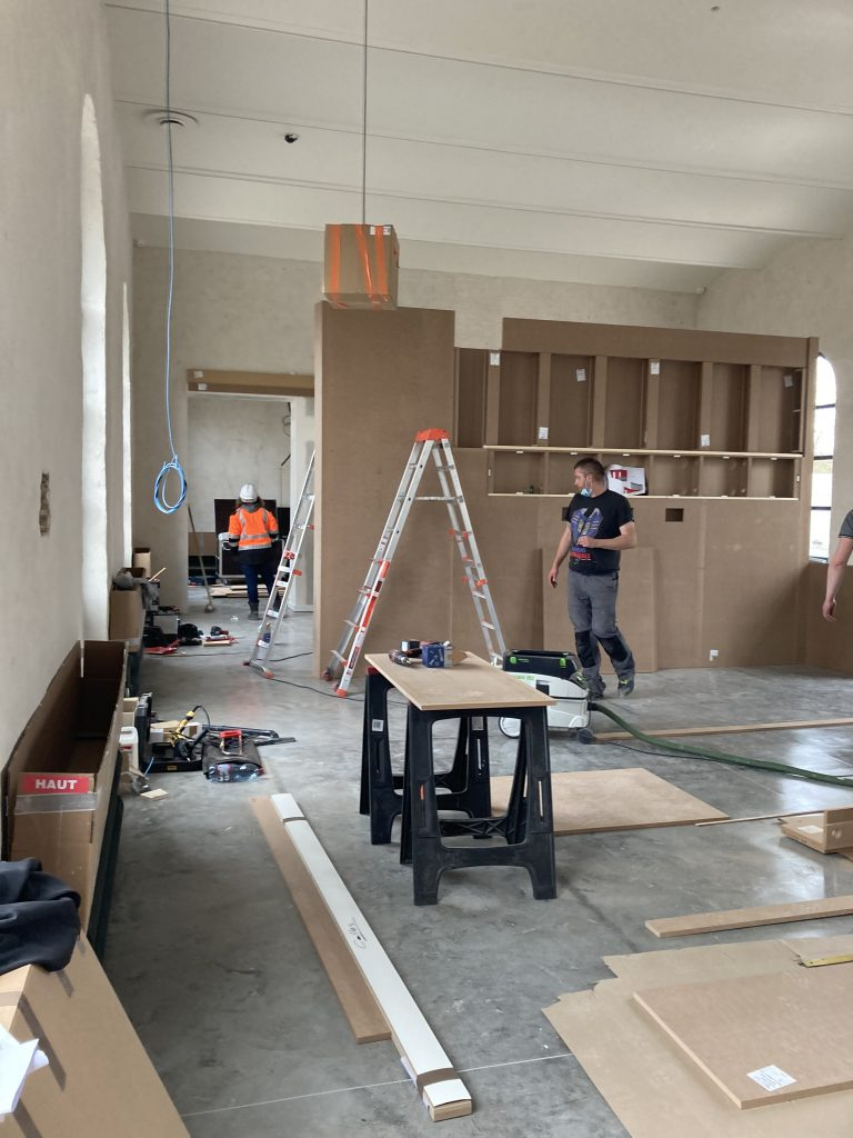 PENDANT TRAVAUX MUSEE PITHIVIERS